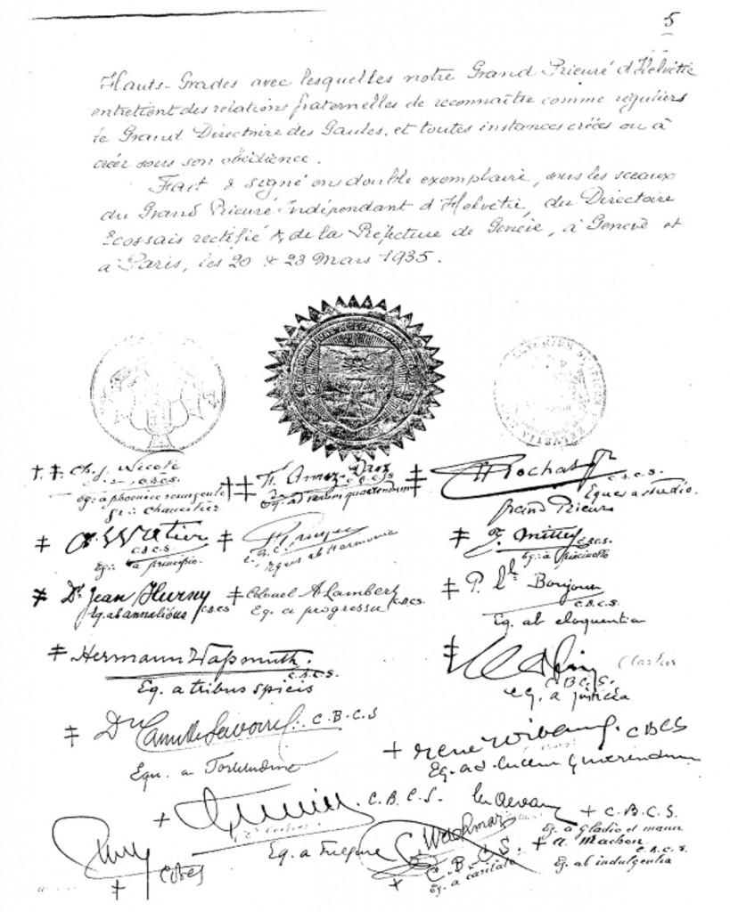 Charte-Patente - GDDG - 1935 - 5
